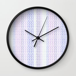 Knitted pattern in pastel colours.3 Wall Clock