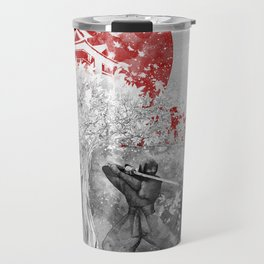 The warrior and the wind Travel Mug