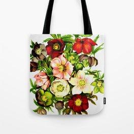 Beautiful Vintage Flower Painting Tote Bag