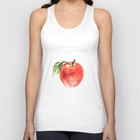 apple Tank Tops featuring Apple by Anna Yudina
