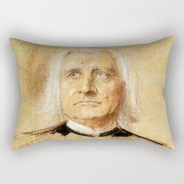 Franz Liszt (1811-1886). Painting by Franz Von Lenbach Rectangular Pillow