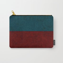 Blue and orange suede Carry-All Pouch