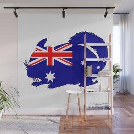 Australian Flag - Chinchilla Wall Mural