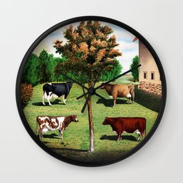 Typical Cows Wall Clock