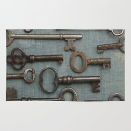 Vintage Skeleton Key Collection Rug