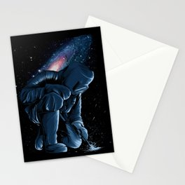 Welder In Space Stationery Cards