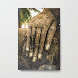 Buddha Hand Metal Print