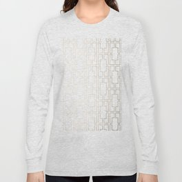 Simply Mid-Century in White Gold Sands Long Sleeve T-shirt