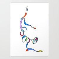 Yoga Scribble - Balance Art Print
