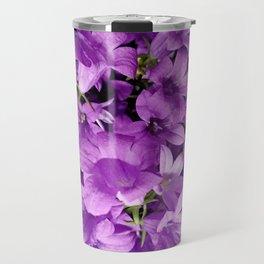 Campanula flowers as a background Travel Mug