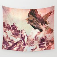 siren Wall Tapestries featuring The Siren by  Ian Skelly