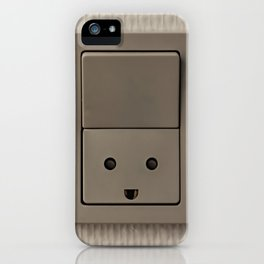 Smiling Power Outlet iPhone Case