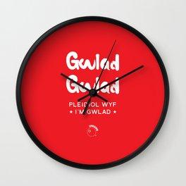 Wales Rugby Union national anthem - Mae Hen Wlad Fy Nhadau Wall Clock