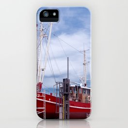 Ship maintenance in Neuharlingersiel iPhone Case