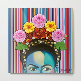 Frida Stay True Metal Print