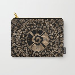 Hunab Ku Gold on black #4 Carry-All Pouch