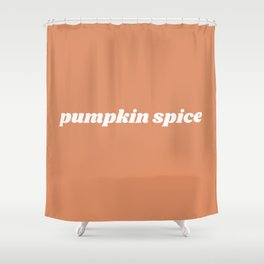 pumpkin spice Shower Curtain