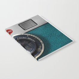 Blue Teal retro vintage camera with germany lens Notebook