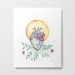 Moon Heart Metal Print