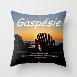 Gaspésie Chairs at Sunset, mask edition Throw Pillow