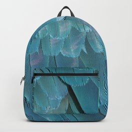 Blue Macaw Feathers Backpack