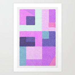 Violet Squares Art Print