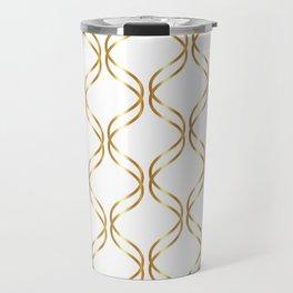 Double Helix - Gold #741 Travel Mug