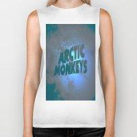 arctic monkeys Biker Tanks featuring Arctic Monkeys by SLIDE