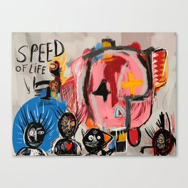 """The speed of life"" Street art graffiti and art brut Canvas Print"