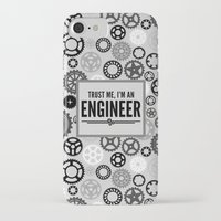 engineer iPhone & iPod Cases featuring Trust Me Engineer Quote by EnvyArt