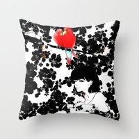 valentine Throw Pillows featuring Valentine by Priscilla Moore