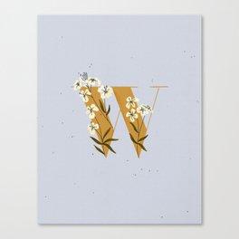 W for Wallflower Canvas Print