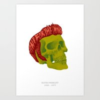elvis Art Prints featuring Elvis by David Maclennan