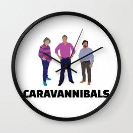 "Clarkson, Hammond and May fan art ""Caravannibals"" Wall Clock"