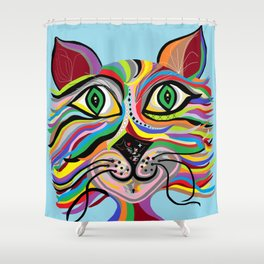 Grinning Cat Shower Curtain