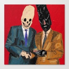 Presentation of the budget ham slice for lifetime services to Hell. 2015.  Canvas Print