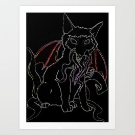 Cat-Thulu - Dark Art Print