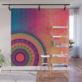 Ethnic Mandala on geometric pattern Wall Mural