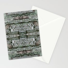 Maple Bark & Lichen - Old Mossy Maple Tree Bark - Natural Patterns Stationery Cards