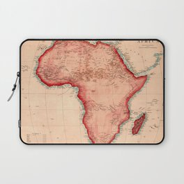 Map Of Africa 1844 Laptop Sleeve
