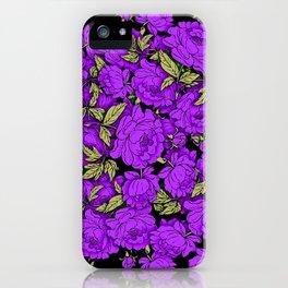 Purple Peonies iPhone Case