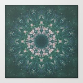 Amazon Emerald Gemstone Mandala No. 39 Canvas Print