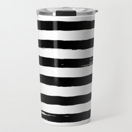 black paint stripes Travel Mug
