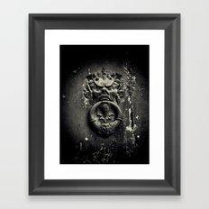 Knock if you dare! Framed Art Print