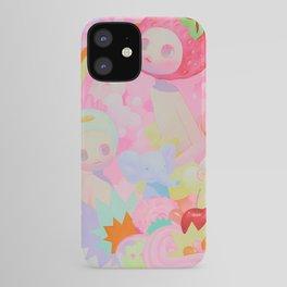 'Pep Talk', Cute pink rainbow art  iPhone Case