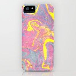 Colorful Suminagashi Marbles iPhone Case