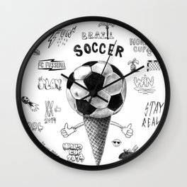 Soccer Worldcup 2014 Wall Clock