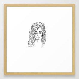Bellatrix lestrange Framed Art Print