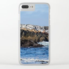 Pacific Ocean Sea Lions Clear iPhone Case