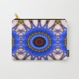 Blue mandala pattern by Saribelle Carry-All Pouch